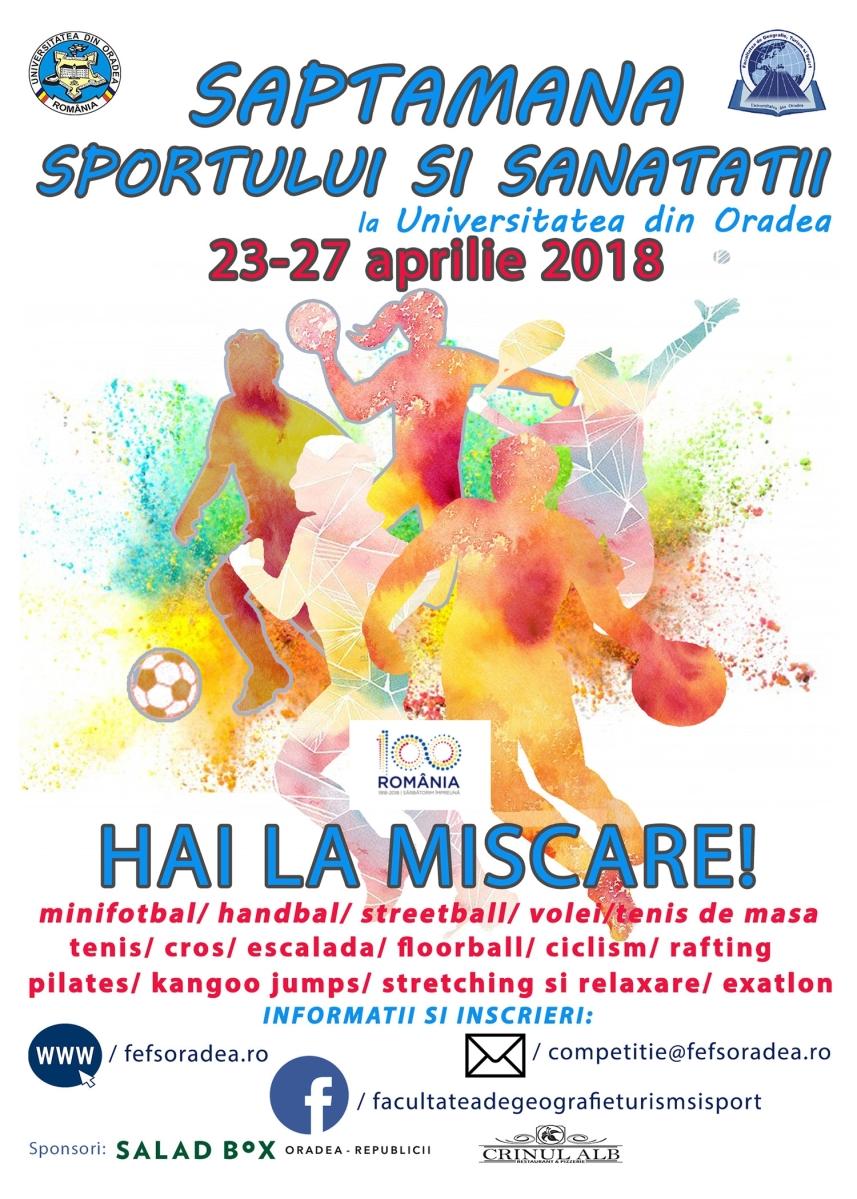 Săptămâna sportului și sănătății la Universitatea din Oradea