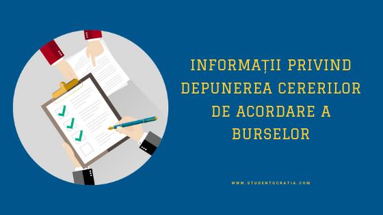 Informații privind depunerea cererilor de acordare a burselor