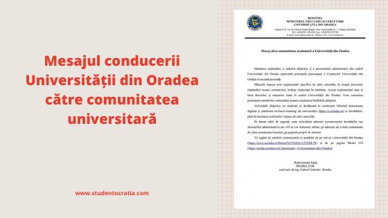 mesaj_comunitatea universitară
